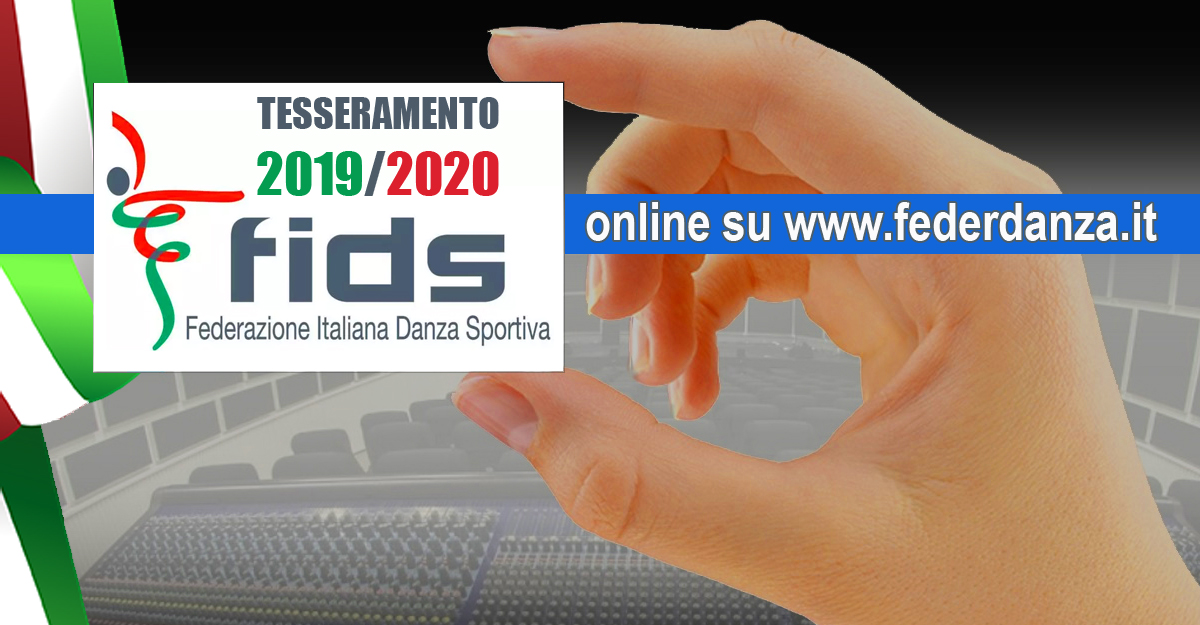Tesseramento stagione sportiva 2019/2020